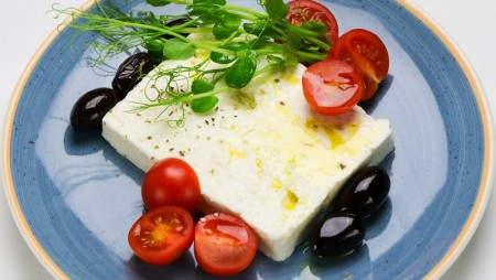Greek Feta cheese with olives